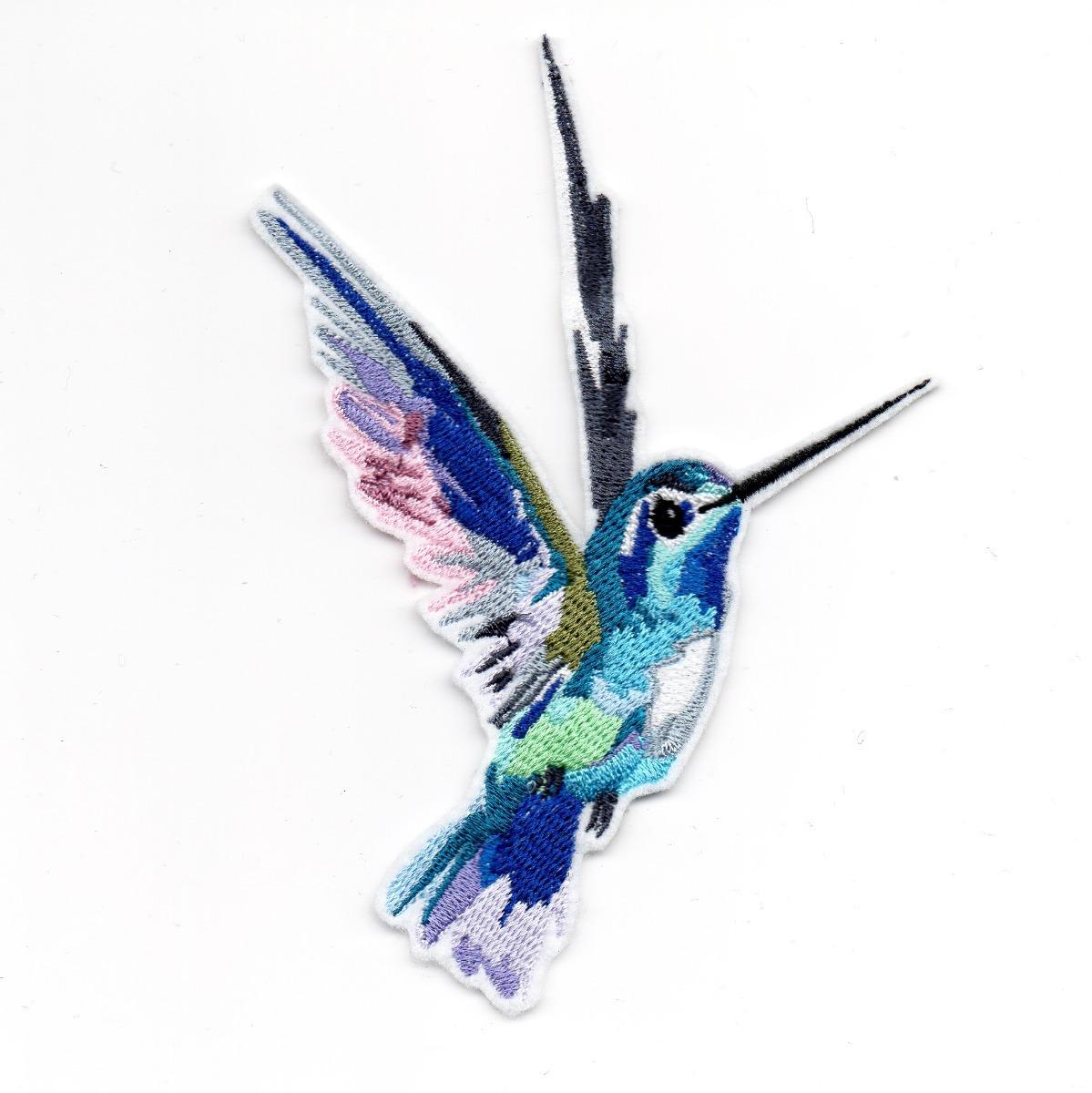 Parche Bordado Colibri Aves Pop Art Adherible - $ 80.00 en Mercado Libre