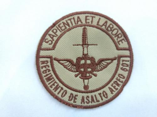 parche bordado ejercito batallón asalto aéreo 601 uca/ verde