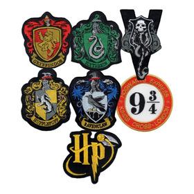 Parche Bordado Harry Potter Gryffindor Slytherin X 1