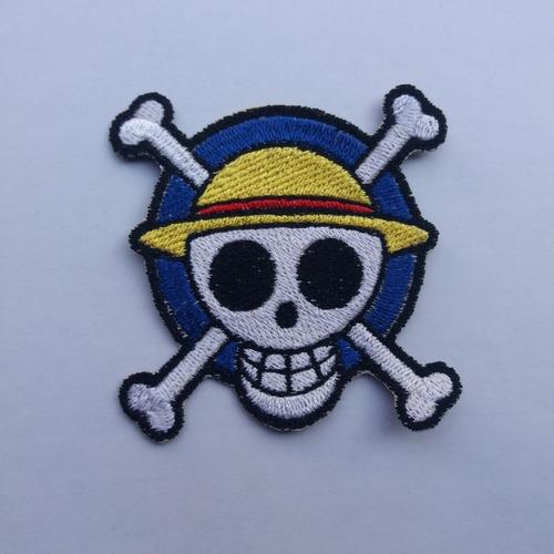 parche bordado one piece logo mugiwara