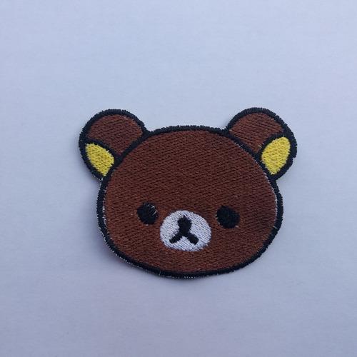 parche bordado oso marrón