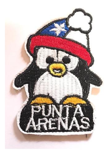 parche bordado pingüino con gorro punta arenas mas chileno