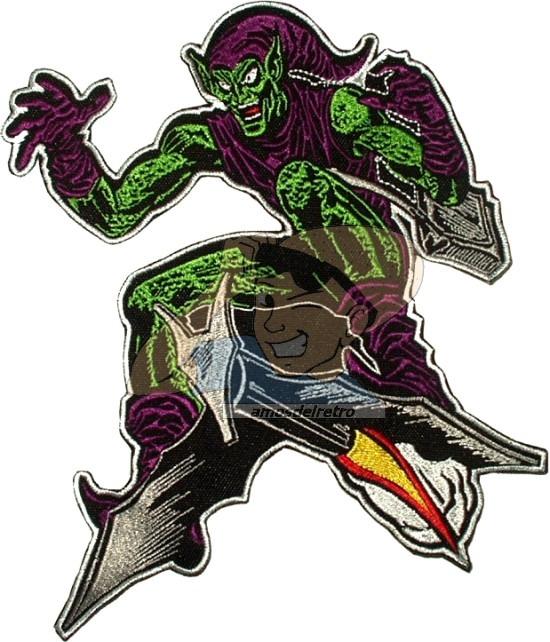 Parche Bordado Spider Man Duende Verde Comic Para Espalda 350