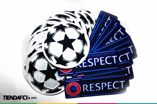 parche champions league respect + starball oficiales uefa