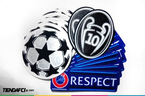 parche champions real madrid 11 copas + respect + starball