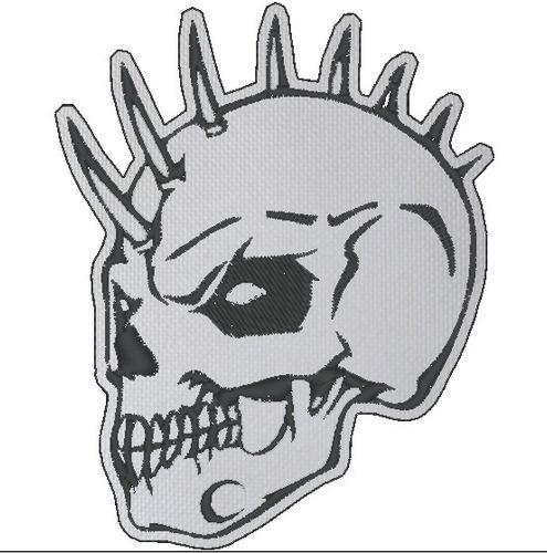 parche craneo calavera punk 9.5cm