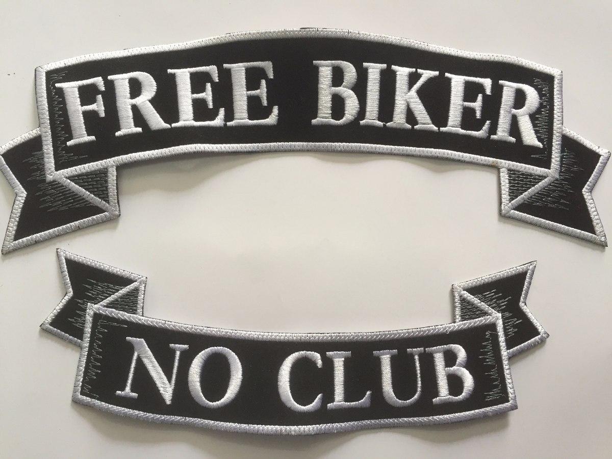 Freebiker parche free biker no club - $ 279.00 en mercado libre