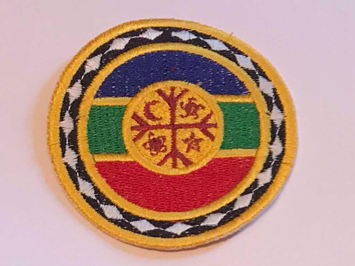 parche mapuche bandera redonda