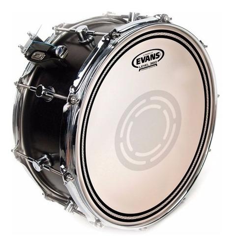 parche p/ tambor 14  evans ec2 reverse dot coated doble capa