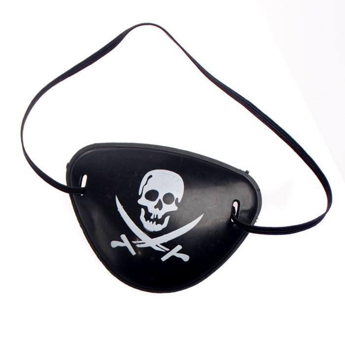 Parche pirata de pl stico halloween disfraces cotill n for Parches para piscinas de plastico