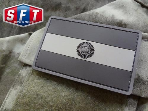 parche pvc bandera argentina baja visibilidad de s f t®