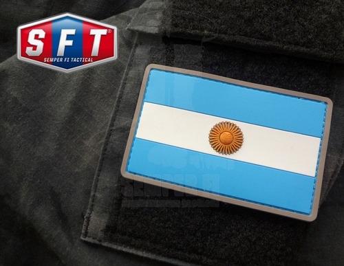 parche pvc bandera argentina de sempe fi tactical®