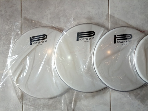 parche redoblante bateria timbal 14 superior blanco power be