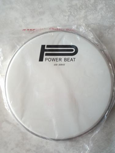 parche redoblante bateria timbal 14 superior blanco power be