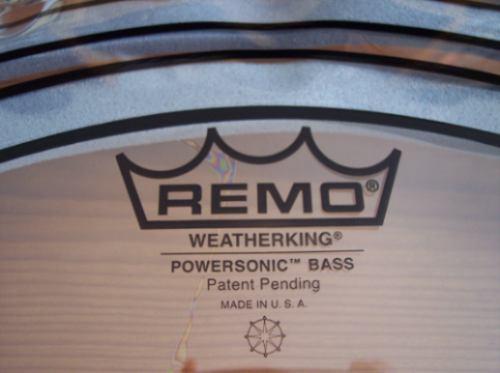 parche remo powersonic nuevo para bombo de 22 pulgadas pro