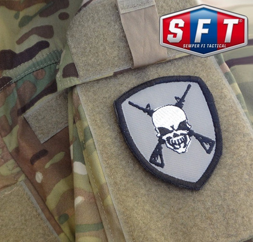 parche skull shield swat de sempe fi tactical®