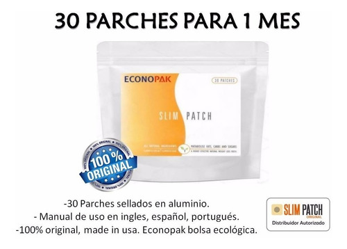 parches adelgazante x 30 con manual original slim patch