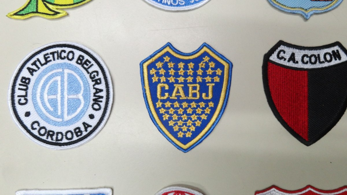 parches apliques escudos bordados equipos futbol argentino. Cargando zoom. 4a7d46816faa0