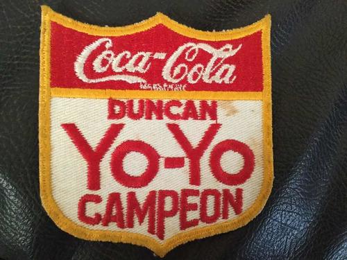 parches campeón coca cola yoyó de los 60s