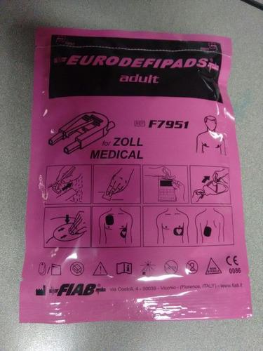 parches, electrodos desfibrilador zoll.