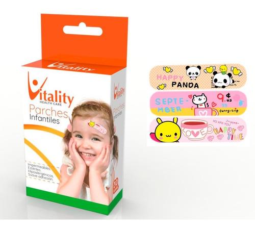 parches infantiles niñas vitality  x 300 apositos