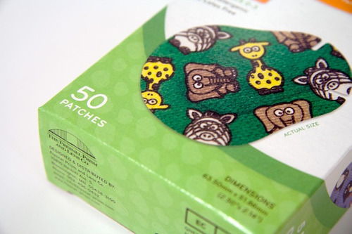 parches oculares de colores para estrabismo (caja de 50 pzs)