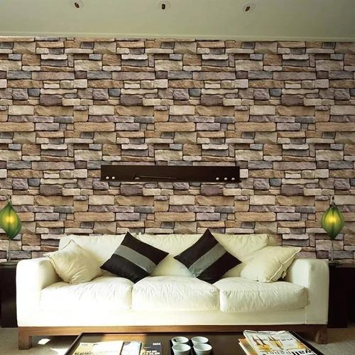 pared 3d ladrillo decorativo hogar