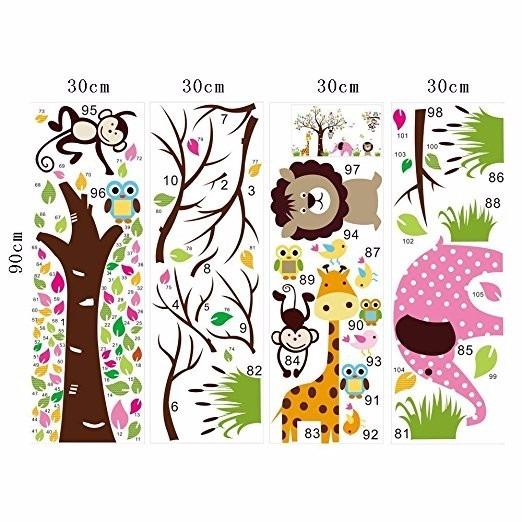 Pared Dibujos Animados Coloridos Animales Del Bosque Decorac