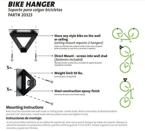 pared soporte para bicicleta