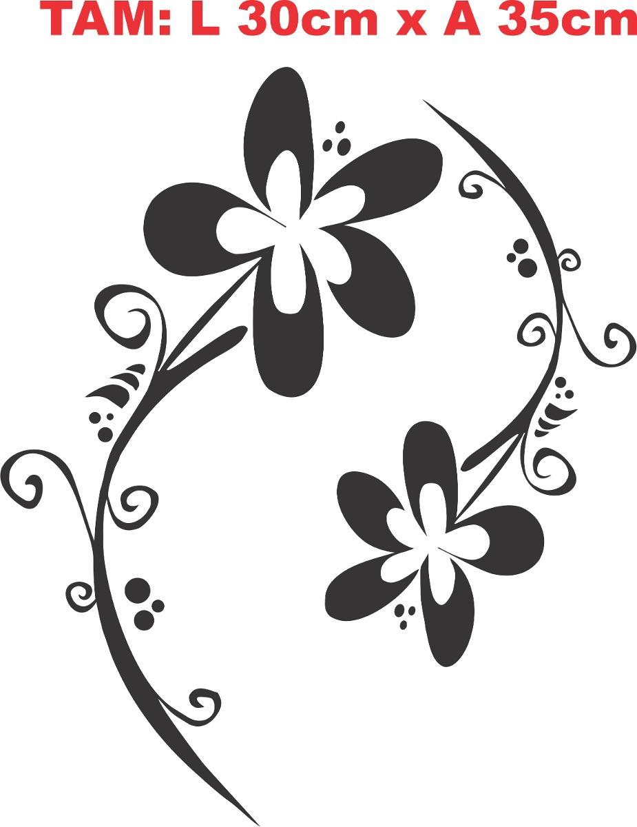 Artesanato De Valença Bahia ~ Adesivo Decorativo Parede Banheiro Vaso Sanitário Floral