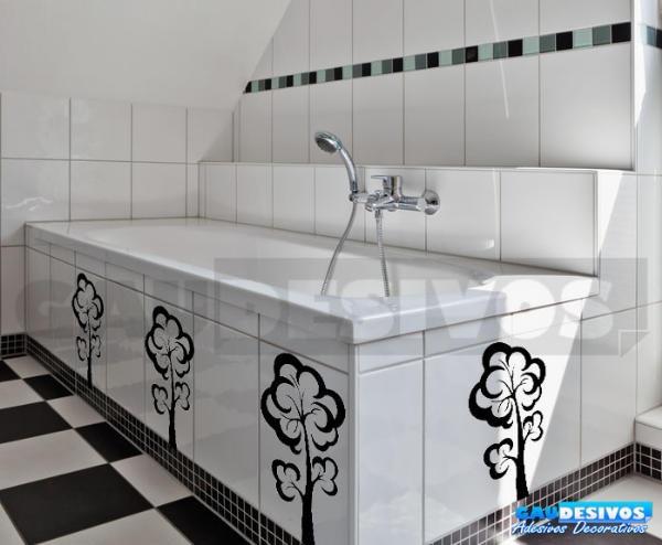 Adesivo decorativo de parede de azulejos kit floral for Azulejos para paredes