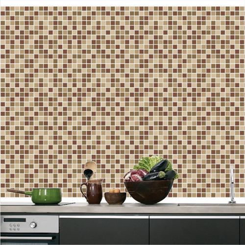 Adesivo De Parede Coruja ~ Adesivo Pastilhas Decorativo Papel De Parede Cozinha M13 R$ 119,00 em Mercado Livre