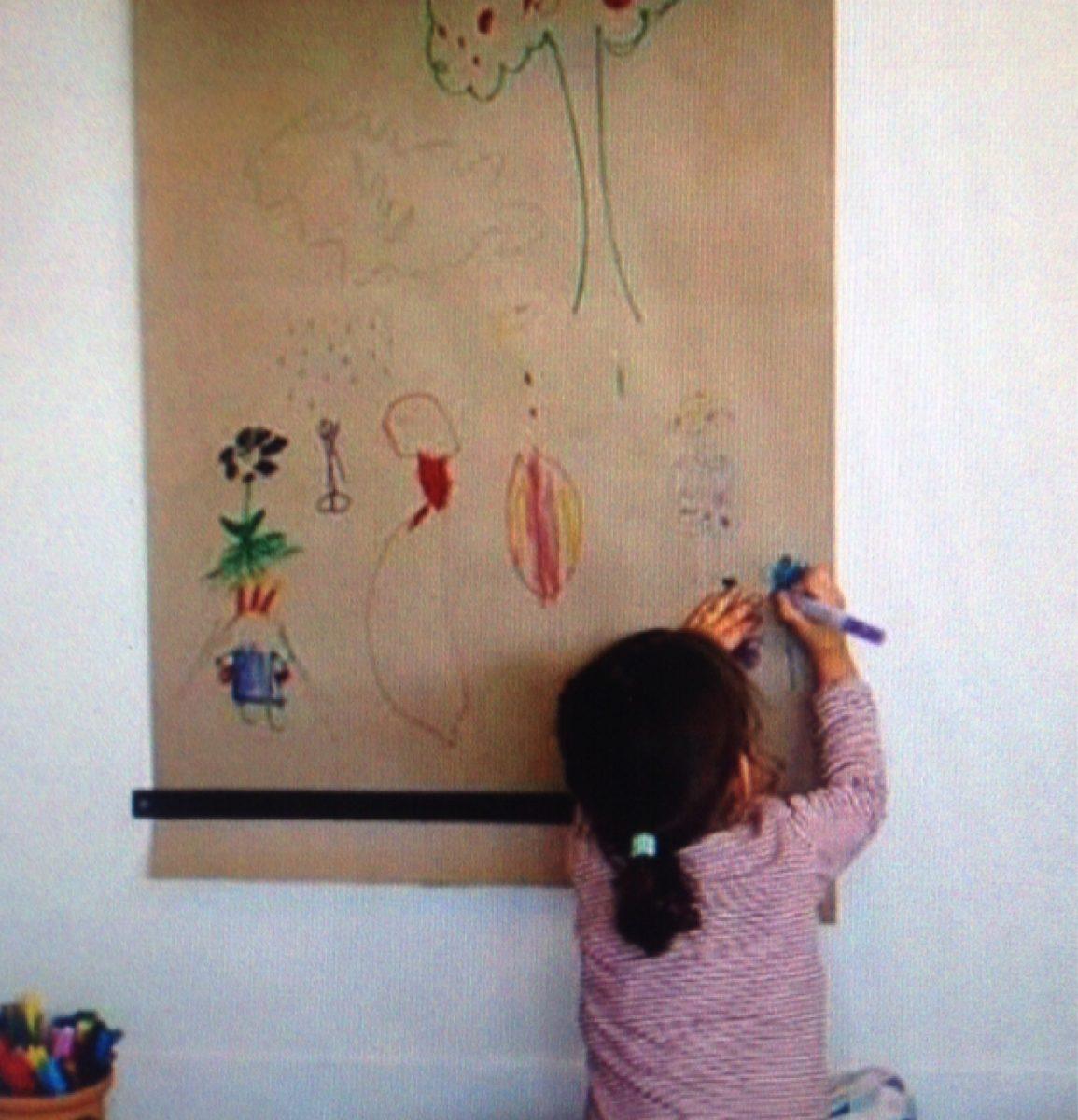 Suporte de papel de parede para escrever e desenhar r - Papel infantil para pared ...