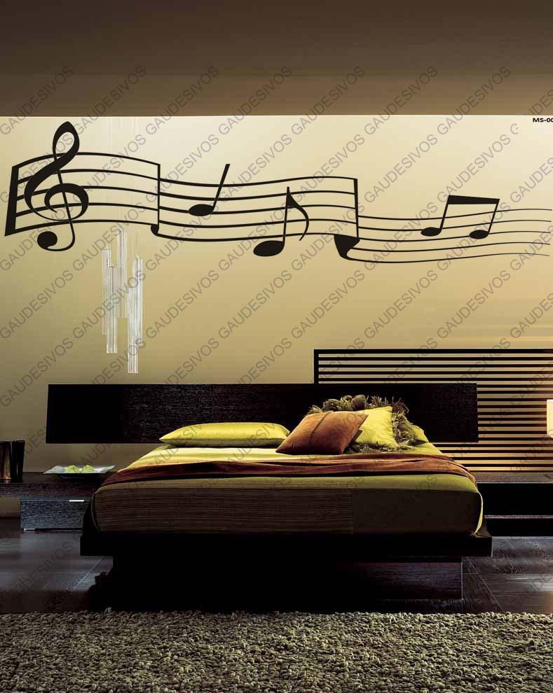 Artesanato Loja Sp ~ Adesivo De Parede Decorativo Nota Musical Extra Grande Sala R$ 39,99 em Mercado Livre