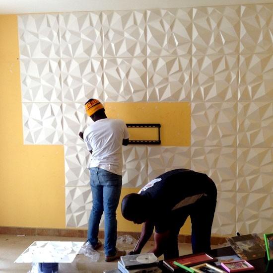 Paredes 3d board panel decorativo diamante 40 x 40 cm vb 401 en mercado libre - Panel decorativo para pared ...