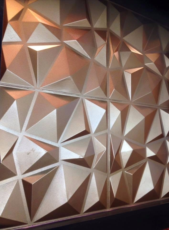 paredes d board panel decorativo diamond x cm vb