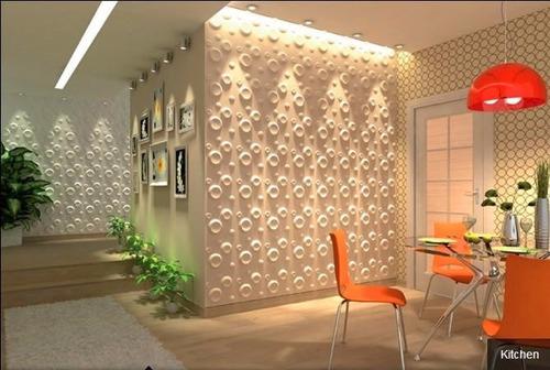 paredes 3d board panel decorativo spring 30 x 30 cm vb-032