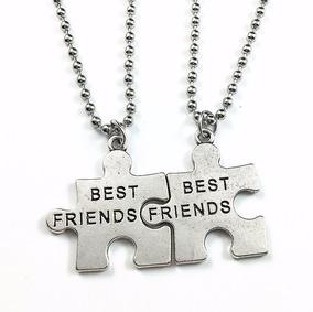 nuevo estilo b8ed8 2639f Pareja Collares Mejores Amigas Amigos Best Friends Rompecabe