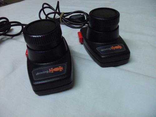 pareja de controles driving para atari 2600