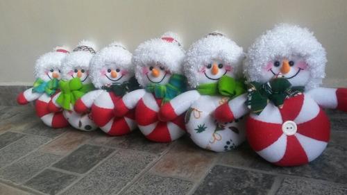 pareja de nieve tipo caramelo ideal para el árbol de navidad