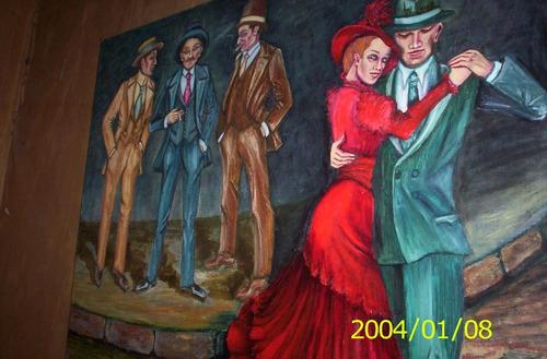 pareja de tango en oleo sobre tela  250 mil  disponible