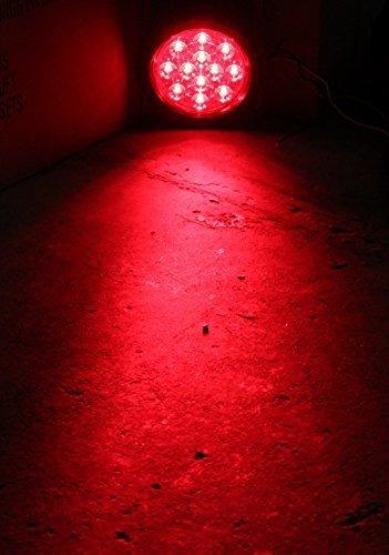 pareja nuevo lente rojo 4 led redondo stop giro luz cola inc