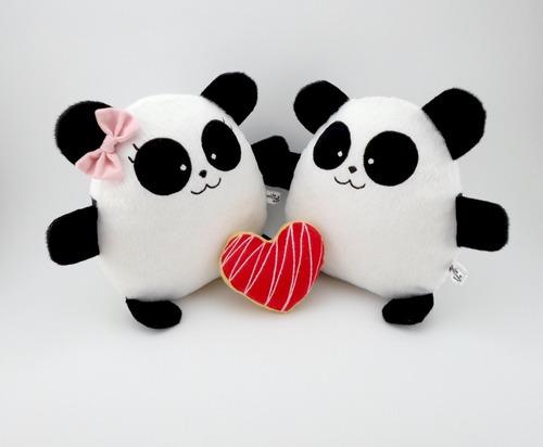 pareja panda grande peluche nombre personalizado aniversario