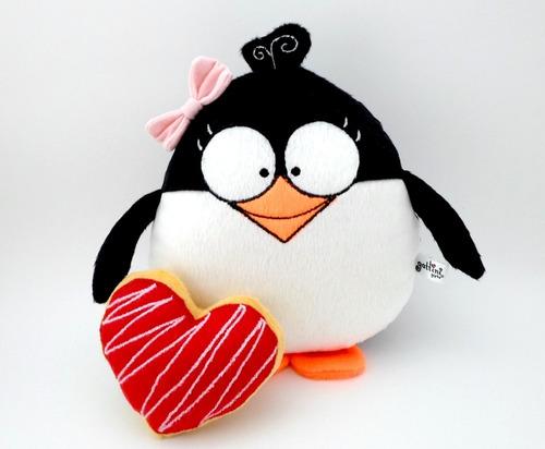 pareja pingüinos peluche nombre personalizado aniversario