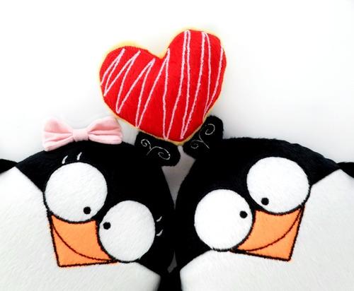 pareja pingüinos peluche personalizado aniversario boda amor