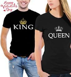 pareja t - camisas - rey y reina matching su y su negro t -