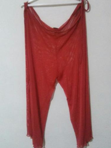 pareo rojo pantalon playero ropa de playa talla unica 3v
