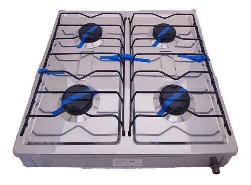 parilla de gas / estufa 4 quemadores de acero inoxidable