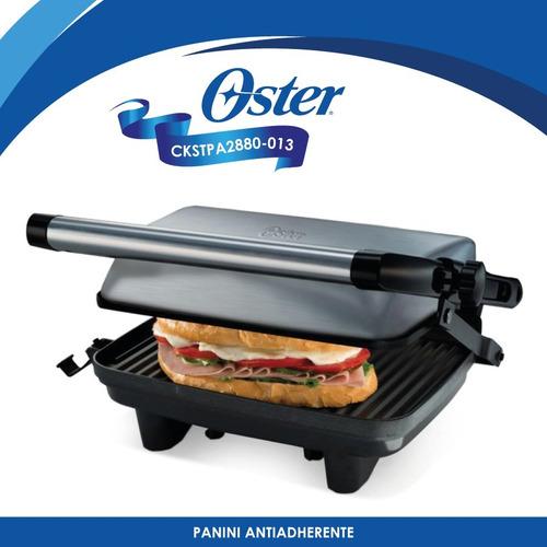 parilla para panini antiadherente plata oster ckstpa2880-013