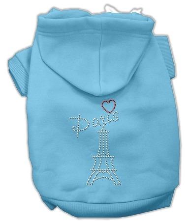 parís diamante de imitación hoodies bebé azul xxxl ( 20)